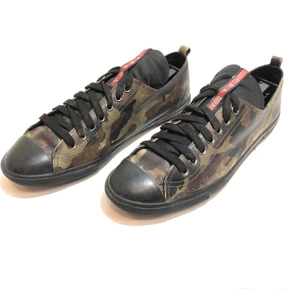 Prada Shoes   Prada Camo Sneakers Mens